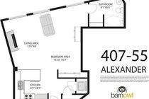 # 407 55 ALEXANDER ST, Vancouver - V871205